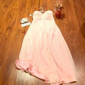 Pink DM bridesmaid/prom dress. Warn once.